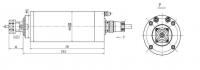 GDZ80-2.2 (220V 4 bearing) ER20