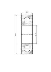 Подшипник шпинделя H7007C-2RZ DBP5 (комплект 2 шт.)