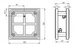 ВП 150х150 мм (двухсторонняя на стойках)