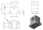 Поворотная ось  с волновым редуктором 14-100-100В