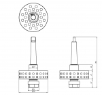 Патрон термосверления ER20-A (конус Морзе 2)