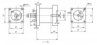 Планетарный Редуктор 57мм PX57N024 (1:24)